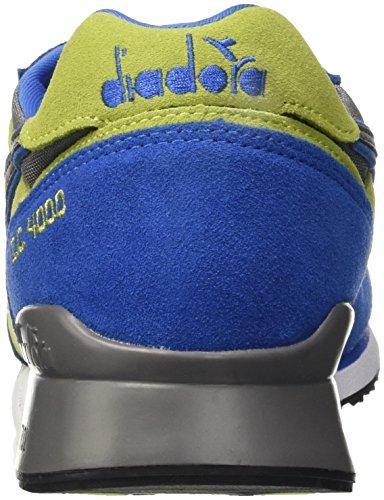 Diadora I.c 4000 Nyl Ii, Pompes à plateforme plate homme Blu (Blu Micro/Verde Acido)
