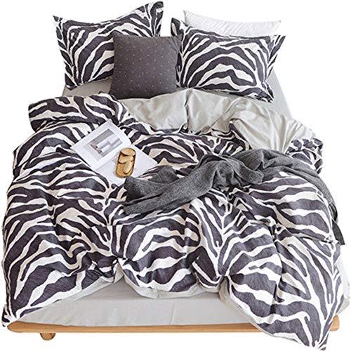 YJJSL Cotton Bedding Set, Student Schlafzimmer Stilvolle Einfachheit Duvet Suit, Nordic Geometrische Muster Bare Sleep Quilt Anzug Set - abnehmbar 3 / 4Pcs (größe : 2.0M) -