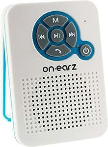 ON.EARZ P105-parleur Bluetooth FM sans fil pour douche Blanc
