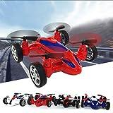 Yukio KinderToys- Fahrzeug Spielzeug in Quadrocopter Design Fliegen-Auto Modell Spielzeugauto für Kinder ab 3 Jahre alt