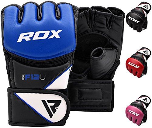 RDX MMA Guantes Maya Cuero Lucha Libre Sparring Artes Marciales Guantillas Entrenamiento Grappling