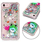 iPhone 6S Case, iPhone 6 Case,3 in 1 Hybrid Heavy Duty Defender Case Sparkly Floating Liquid Glitter Protective Hard She