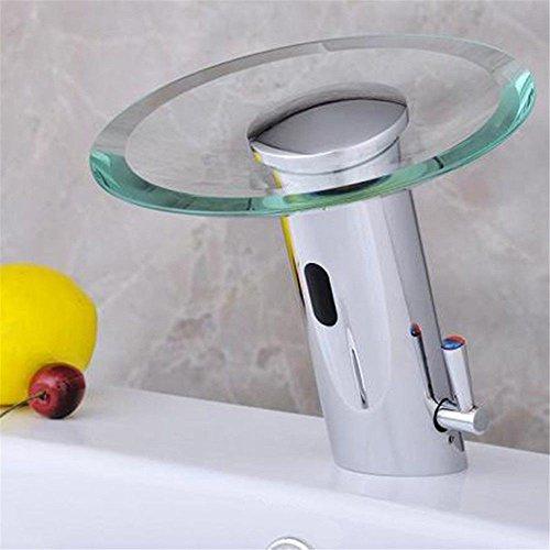 Lvsede Wasserhahn Bad Küche Badewanne Wasserhahn Moderne Chrom Messing Ein Chrom Glas Wasserfall Outlet Bad Waschbecken Wasserhahn -