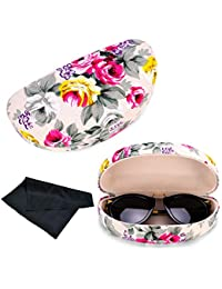 d1bc5513308 Oversized Hard Shell Sunglasses Case For Women Durable Protective Holder  for Extra Large Reading Glasses With