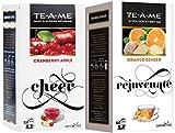#6: TE-A-ME Orange Ginger Infusion Tea & Cranberry Apple Fruit and Flower Herbal Tea Infusion Tea Combo - 50 Tea Bags