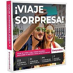 Caja Regalo para Dos- ¡Viaje Sorpresa para Dos Personas! Vuelos + 2 Noches en una Ciudad Europea. El Mejor Cofre de experiencias para Regalar