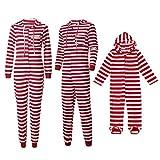 Transwen Weihnachten Familie Kleidung, Mama & Papa & Ich Kinder Jungen Hoooded Gestreiften Strampler Familie Kleidung Schlafanzug Unisex (L, Dad)