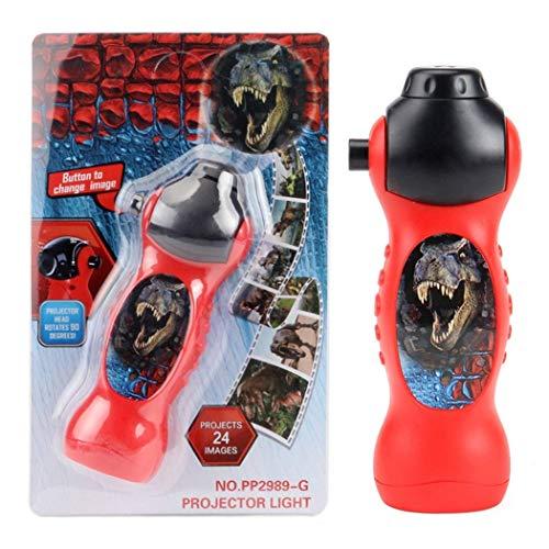 RCTOY Dinosaurier-Projektor Taschenlampe Luminous Spielzeug drehbares Objektiv-Projektor-Spielzeug mit 24 verschiedenen Mustern Projektor-Licht-Dinosaurier
