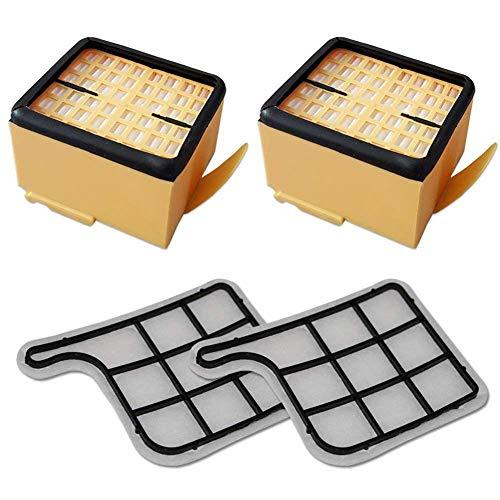 REFURBISHHOUSE Filterset 2 Motorschutzfilter (Motorfilter) + 2 HEPA (Mikro) Filter/Mikrofilter / Hepafilter geeignet Fuer Vorwerk Kobold VK 135, 136, VK135, VK136