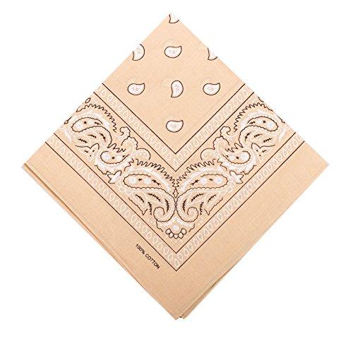 ILOVEDIY Bandana / Foulard carré avec motif cachemire fichu paisley en Coton multi-usages 56 x 56 cm