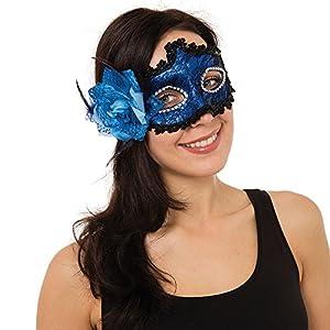 Bristol EM107 - Máscara de ojos trenzada con flor lateral, para mujer, color azul, talla única