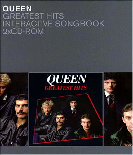 Queen, Greatest Hits, 2 CD-ROMs Für Windows 95/98. Zum Erlernen d. Gitarren-, Schlagzeug-, Bass- od. Keyboard-Parts. Play-Alongs f. d. Instr. od. Gesang. Die Hits in Videofilmen