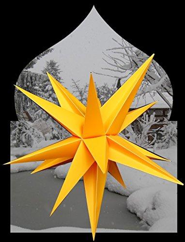 Étoile de noël lumineuse à lED pour l'étoile de avant außenstern jaune 65 cm avec câble de 4 m et lED basse consommation philips outdoorstern