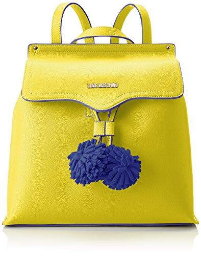 Love Moschino Damen Borsa Small Grain Pu Giallo Rucksackhandtasche, gelb (Yellow), 15 x 30 x 32 cm