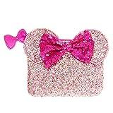Claire's - Femmes Porte-monnaie à paillettes roses oreilles de Minnie Mouse de Disney®