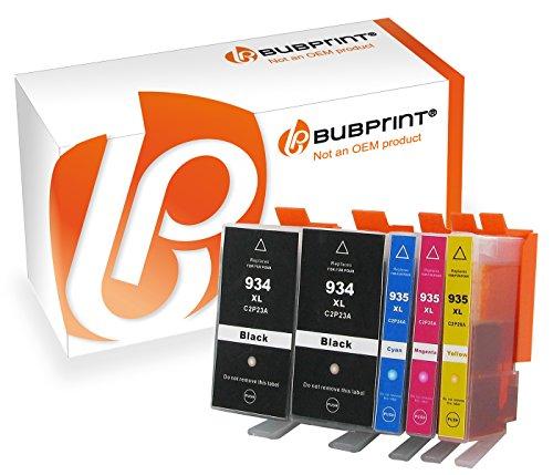 Bubprint 5 Druckerpatronen kompatibel für HP 934XL 935XL für OfficeJet 6800 Series 6820 6822 6825 Pro 6200 Series 6230 6235 6239 6830 6835 BK C M Y
