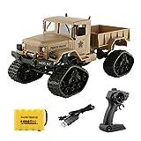 Robotrc Ferngesteuertes Auto, Fernbedienung Lastwagen Truck RC Geländewagen LKW Militärfahrzeuge 1:16 Skala 2.4G 4WD Racing Spielzeug (Khaki)