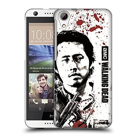 Officiel AMC The Walking Dead Recharger Sang Étui Coque D'Arrière Rigide Pour HTC Desire 626