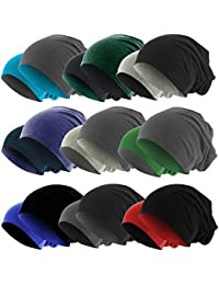 Hatstar Slouch Long Beanie 2in1 Reversible Jersey Mütze in 44 Farben Wintermütze