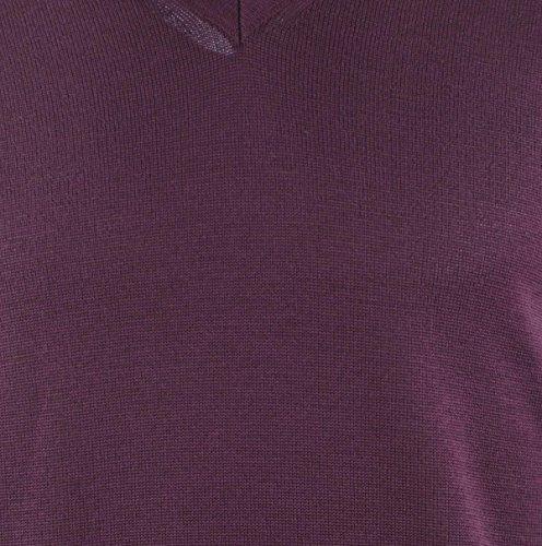 Maerz Herren Pullover 490400 Rot (Dark Wine 477)