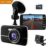 Dash Cam, NOTENS Auto Dash Camera Autokamera 1080P Videorecorder (mit 16GB Card) 170° Weitwinkelobjektiv WDR Bewegungserkennung Parkmonitor Loop-Aufnahme Nachtsicht und G-Sensor