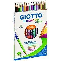 Giotto 257200 Stilnovo Bicolor, 18 Pastelli Doppio Colore, 3.3. mm