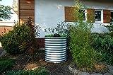 VITAVIA BASIC Hochbeet aus hochwertigem Zinkalume in dunkelgrau, ca. 162 x 82 x 86 cm, Gemüse-, Kräuerbeet, Pflanzentrog, pulverbeschichtet, pflegeleicht, stabil, erweiterbar, Saisonverlängernd Silber 82x82x86 cm