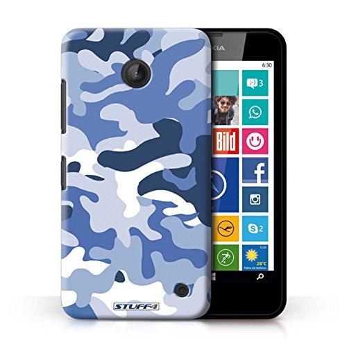 Kobalt® Imprimé Etui / Coque pour Nokia Lumia 635 / Blanc 2 conception / Série Armée/Camouflage Bleue 1