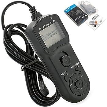 JJC Télécommande intervallomètre TM-B pour Nikon D800E D800 D700 D300 D300s D200 D4 D3X D3s D3 D2Xs D2X D2Hs D2H D1X D1H D1 / F5 F6 F100 / Fuji S3 S5 équivalent à Nikon MC-30, programmierbar