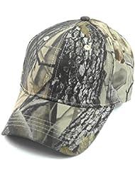 Baiter Unisex camuflaje gorra de béisbol Simplicity al aire libre mujeres sol sombrero hombres pesca sombrero Woodland camuflaje táctico Peaked Cap para senderismo y caza, gris