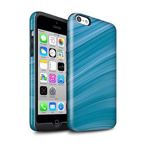 STUFF4 Glanz Harten Stoßfest Hülle / Case für Apple iPhone 5C / Ziegel/Stein/Mauer Muster / Teal Mode Kollektion Abstrakte Welle