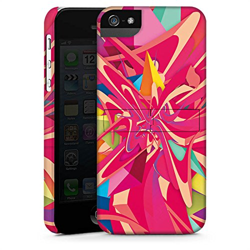 Apple iPhone X Silikon Hülle Case Schutzhülle Farben Explosion Muster Premium Case StandUp