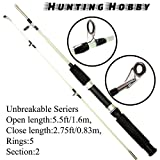 #8: Hunting Hobby Fishing Unbreakable Rod 5.5 Feet, Free Travelling Bag