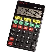 Confronta prezzi Genie - Calcolatrice tascabile Finanzgenie, con pulsanti per calcolare le tasse, gli interessi, aliquote, ratei, risparmi , display a 10 cifre, nero, in tedesco - Trova i prezzi più bassi