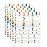 Etichette colorate, etichette autoadesive impermeabili per bottiglie di asilo nido Etichette per nomi rimovibili Adesivo data bambino (235 pezzi)