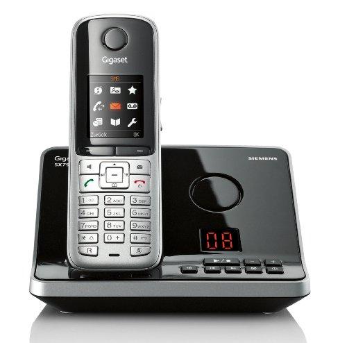 Gigaset SX795 ISDN Schnurlostelefon (4.32 cm (1.8 Zoll) TFT-Farbdisplay, Freisprechfunktion, 3-fach Anrufbeantworter) stahlgrau