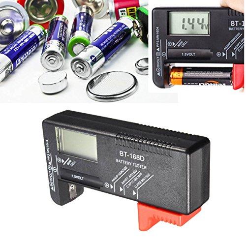 ELEGIANT digital LCD Batterietester Universal Batterie Tester Akku Tester Volt Pruefer Batterieprüfer Batterie Prüfgerät Akku checker für 9V 1,5 V und AA AAA Batterien C D Knopf