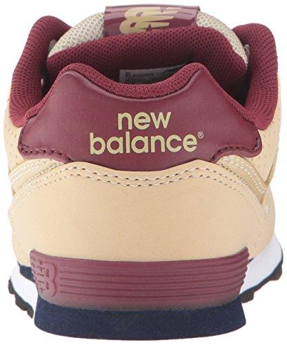 New Balance Kids' KL574V1 Paint Chip Pack Sneaker Tan/Burgundy