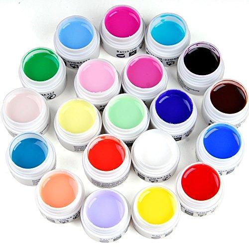 LIFECART 24 pcs pur Mix Couleur UV Builder Gel Colle Acrylique Set pour nail art
