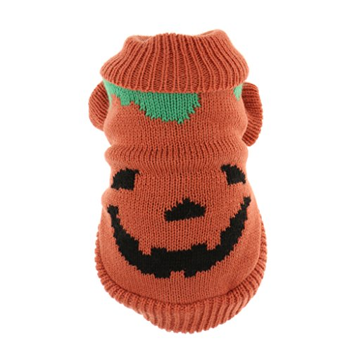 Kostüm Orange Overalls - F Fityle Halloween Kürbis Hundepullover, Winterbekleidung, Party Cosplay Kostüm, Overall - Orange - S
