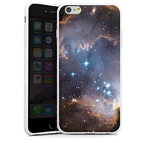 Apple iPhone X Silikon Hülle Case Schutzhülle Sterne Galaxie Universum Silikon Case weiß