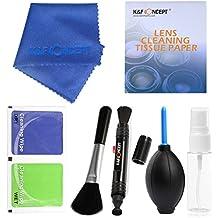 K&F Concept® - Pack de limpieza para Equipos Fotográficos, Profesional Cleaning Kit 7-en-1 para DSLR Cámaras