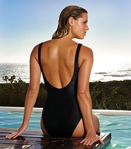 Kiniki Klassischer Schwarzer Damen Badeanzug (48)