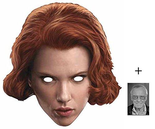 Widow Kostüm Black Avengers The - Black Widow (Scarlett Johansson) Marvel Avengers Age of Ultron Single Karte Partei Gesichtsmasken (Maske) Enthält 6X4 (15X10Cm) starfoto