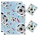 SIMON Elvin Geschenkpapier 2Blatt & 2Tags 50cm x 70cm Fußball Set
