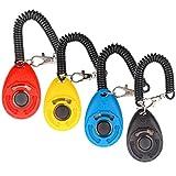 Hunde klicker, [4 PCS, Multi-Color] Diyife Training Clicker mit Trageschlaufe für Hund, Katze, Pferd