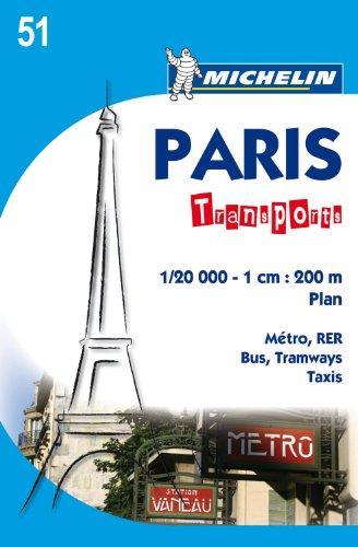 Paris Transports - Plan 51 (Michelin City Map)