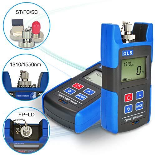 SUWOLF 1310/1550nm Tragbar FTTH Mini Fiber Optical Laser Light Source,Lwl messgerät/Glasfasertester/Fiber Optic Cable Tester Tool mit SC FC ST-Adapter für die Wartung von CCTV-CATV-Anlagen -