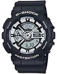 Casio G-Shock – Reloj Hombre Analógico/Digital con Correa de Resina – GA-110BW-1AER