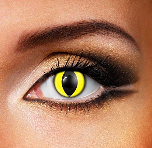 Eye Fusion Tageslinsen Farbige Kontaktlinsen Ohne Stärke von Eye Fusion Coloured Contact Lenses Yellow Cat Eye- 82823